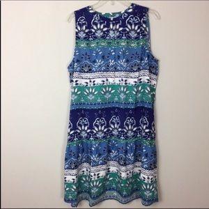 LOFT Outlet • Patterned Drop Waist Dress